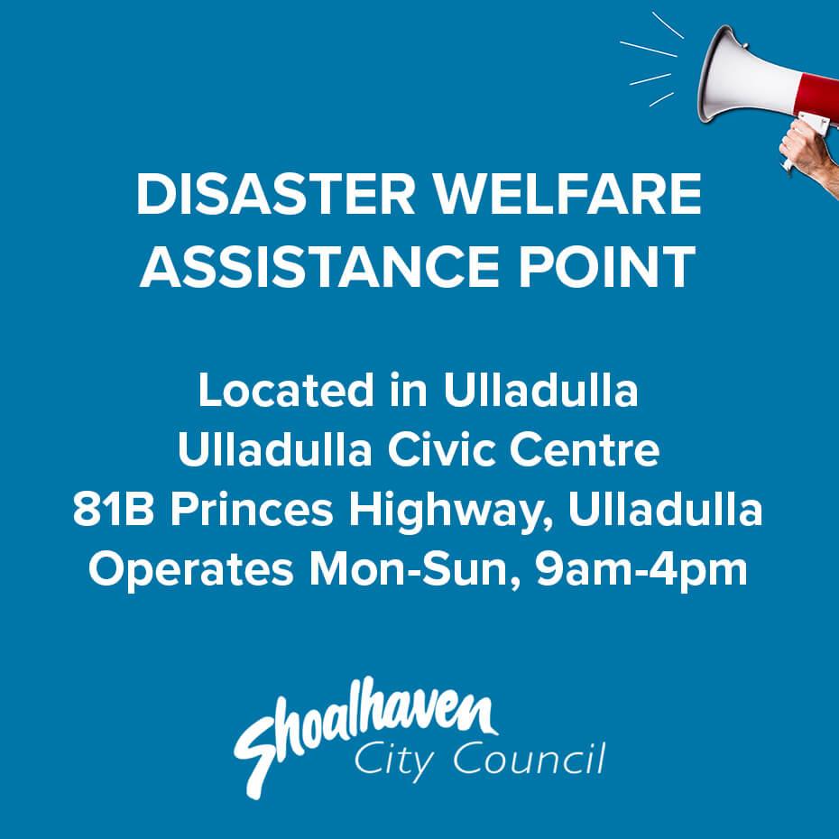 Disaster Welfare Assistance text ulladulla