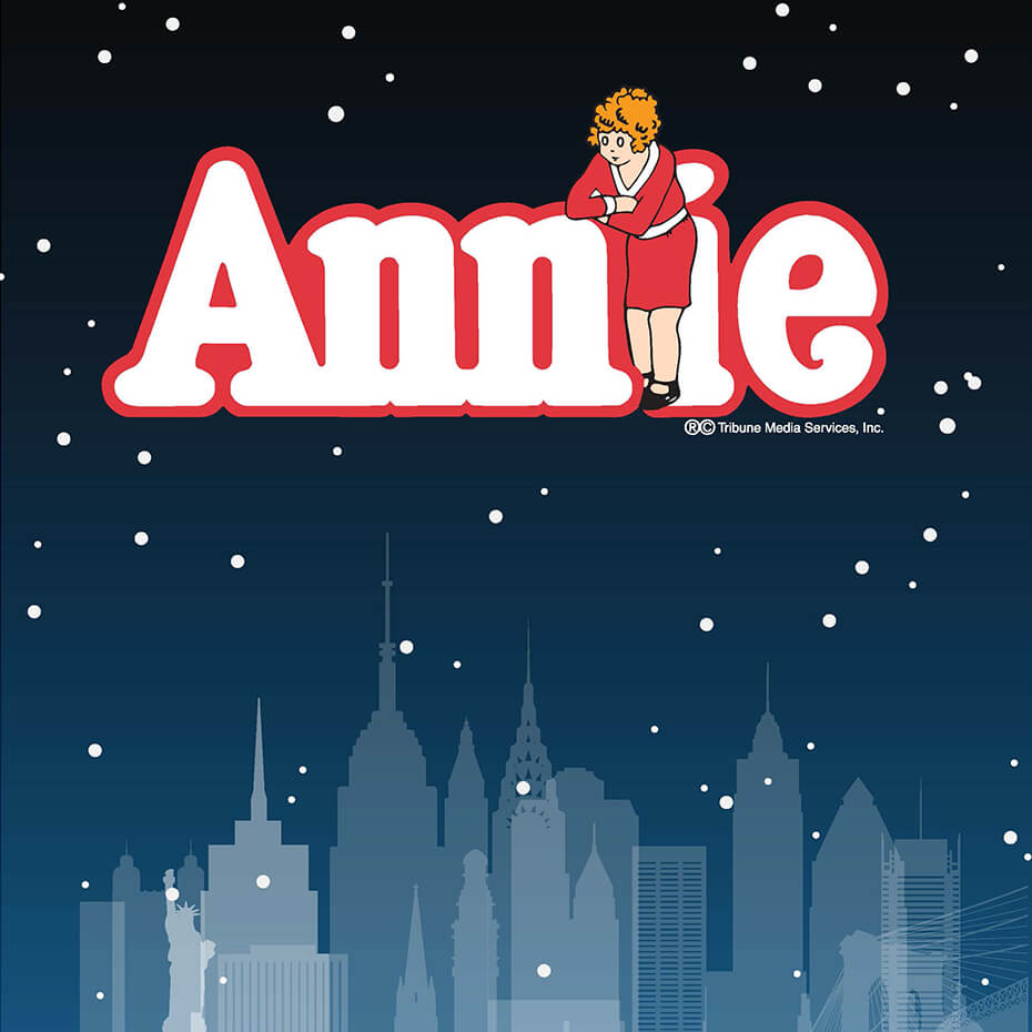 Annie title on city background