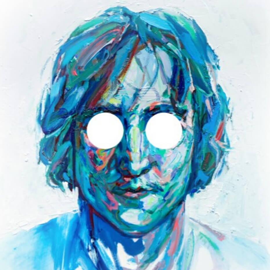 Stylised painting of John Lennon