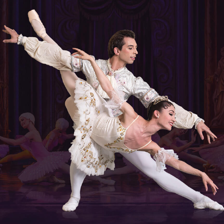 Male and female ballet dancer