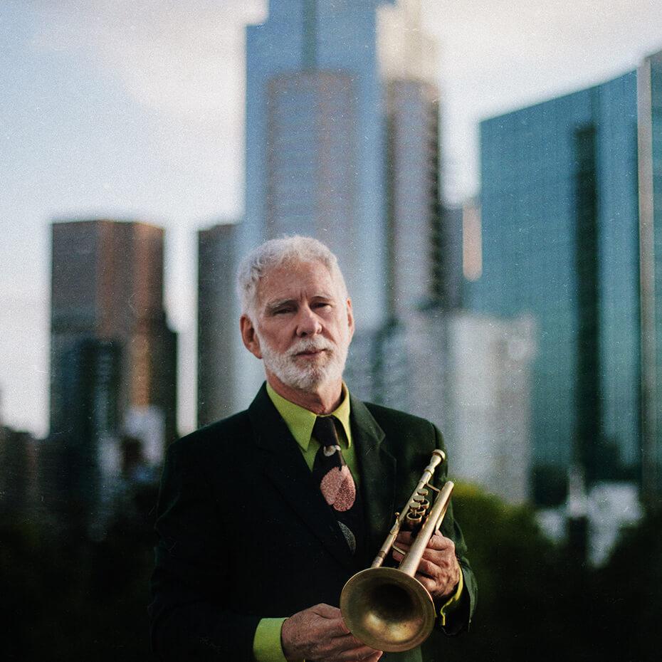 Vince Jones with trumpet