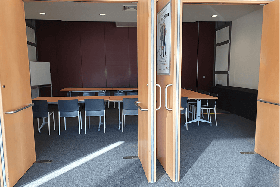 Looking into Atrium meeting room from foyer of Shoalhaven Entertainment Centre