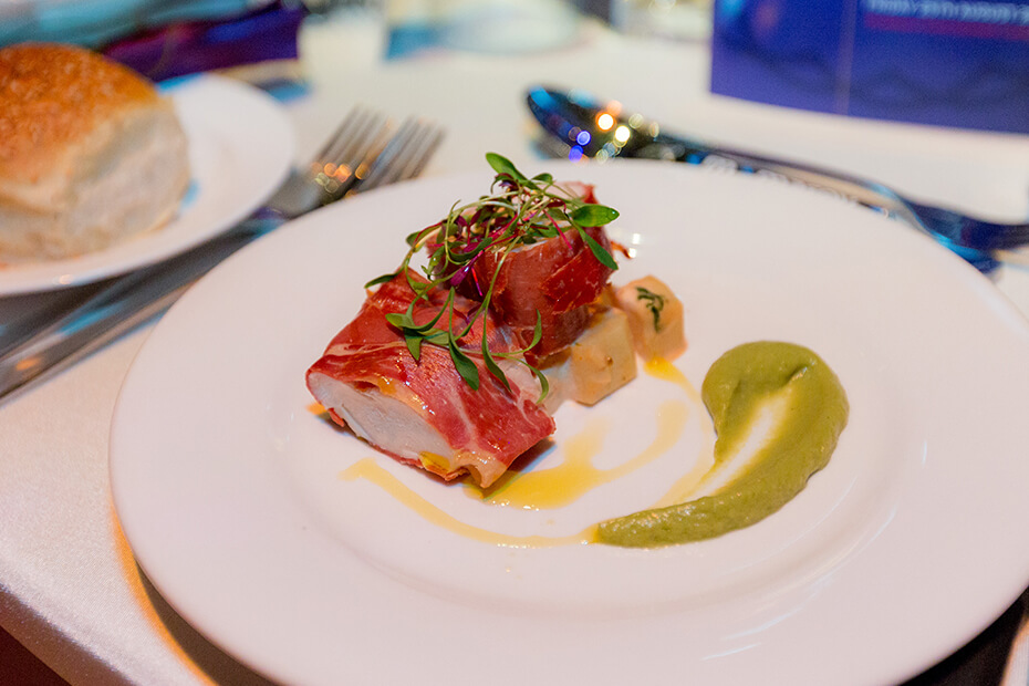 Beautifully presented food on a plate