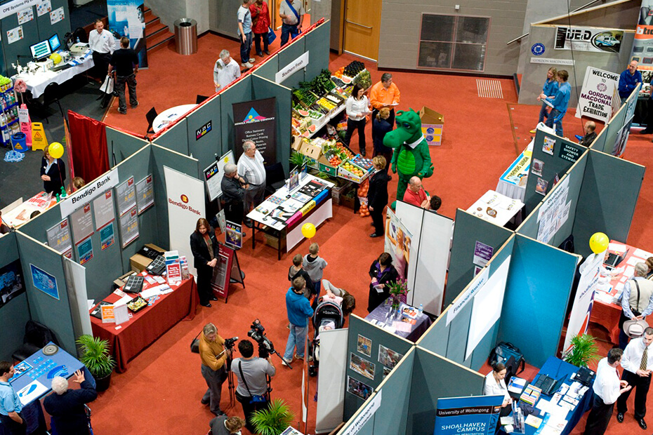 Shoalhaven Entertainment Centre set up for an expo