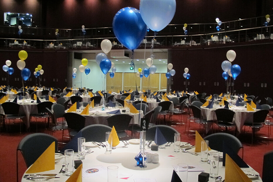 Function room set for school formal
