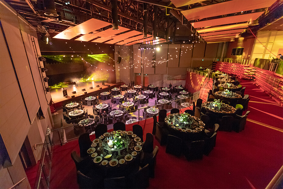Tables set for glamorous event