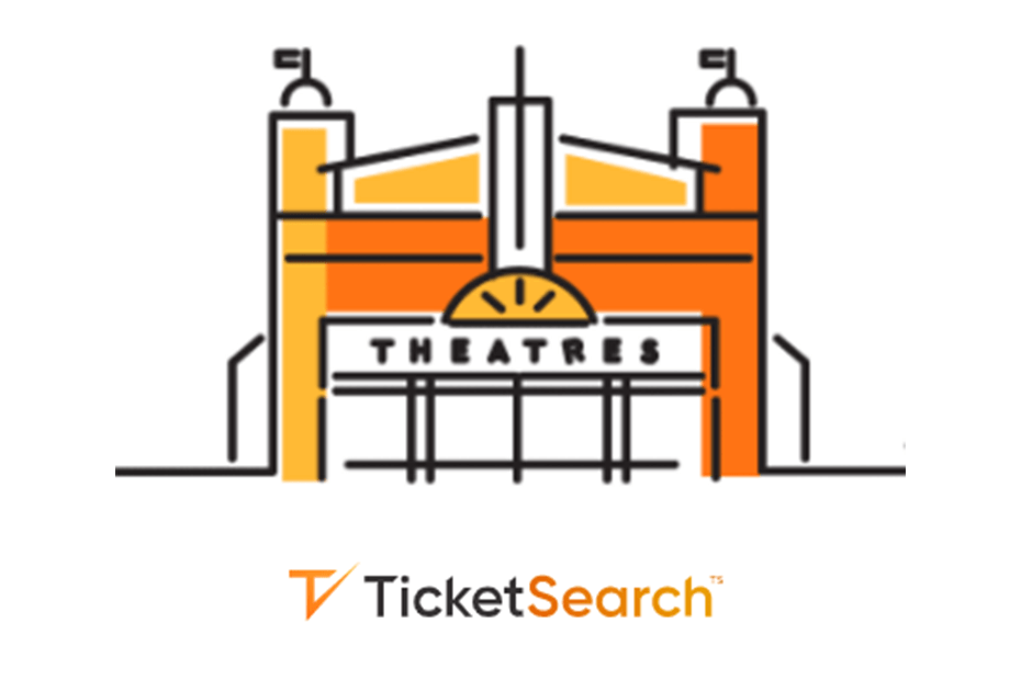TicketSearch logo and illustration of a theatre